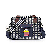 Pink Lining - Yummy Mummy Changing Bag - CREAM BUTTERFLIES ON NAVY