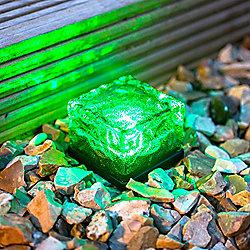 Small Green LED Solar Garden Path Light
