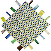 Dotty Fish Baby Tag Blanket - Blue Multi Stars