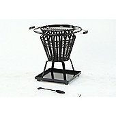 Lifestyle Signa Steel Firepit With Removeable BBQ Grill Plate