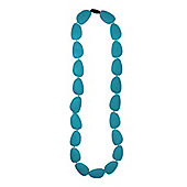Jellystone Stepping Stone Teething Necklace in Turquoise Baja Green