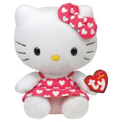 Ty Hello Kitty Heart Theme Beanie Baby Soft Toy, Assorted One Supplied