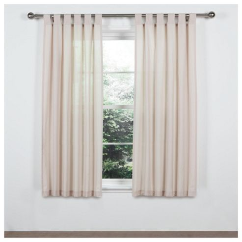 Tesco Everyday Value Tab Top Unlined Curtain W117 x L183cms Cream