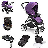 Mee-go Pramette Travel System With Isofix Base - Purple