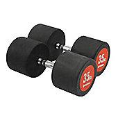 Bodymax Pro V3 Rubber Dumbbells - 35kg