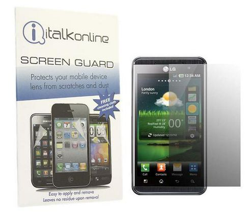 iTALKonline S-Protect LCD Screen Protector and Micro Fibre Cleaning Cloth - For LG P920 Optimus 3D