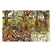 Bigjigs Toys BJ017c Woodlands Floor Puzzle (96 Piece)