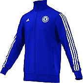 2014-15 Chelsea Adidas Cotton Track Top (Blue) - Blue