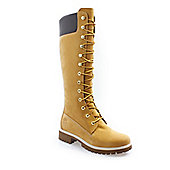Timberland Womens Wheat Premium 14 Inch Leather Boots - Brown