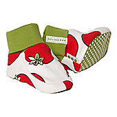 Tomato print booties - Red