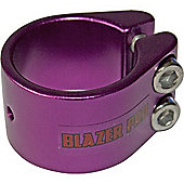 Blazer Double Collar Scooter Clamp - Purple