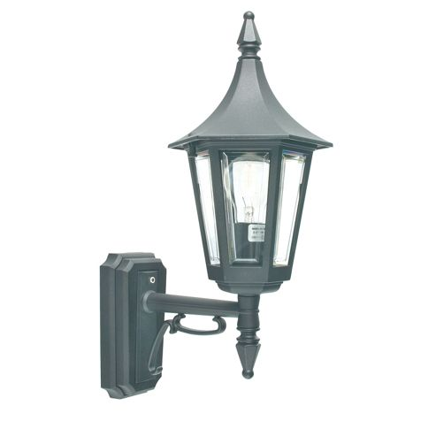 Rimini Up Wall Lantern Black