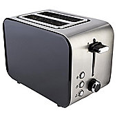 Tesco 2 Slice Stainless Toaster - Black