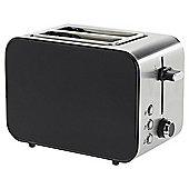 Tesco 2 Slice Stainless Steel Toaster - Black