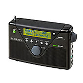 ROBERTS UNOLOGIC DAB/FM PORTABLE RADIO WITH BATTERY CHARGING (BLACK)