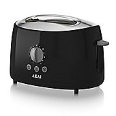 Akai 2 Slice Cool Touch Toaster - Black
