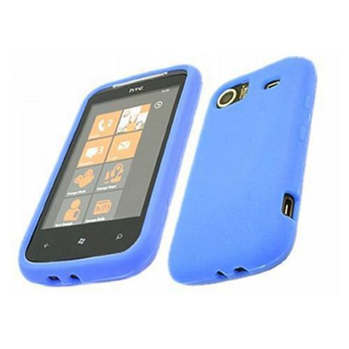 iTALKonline SoftSkin Silicone Case Blue For - HTC Mozart 7
