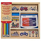 Wooden Vehicle Stamp Set - Melissa & Doug