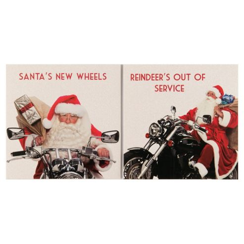 Tesco Santa Rides Christmas Cards, 12 Pack