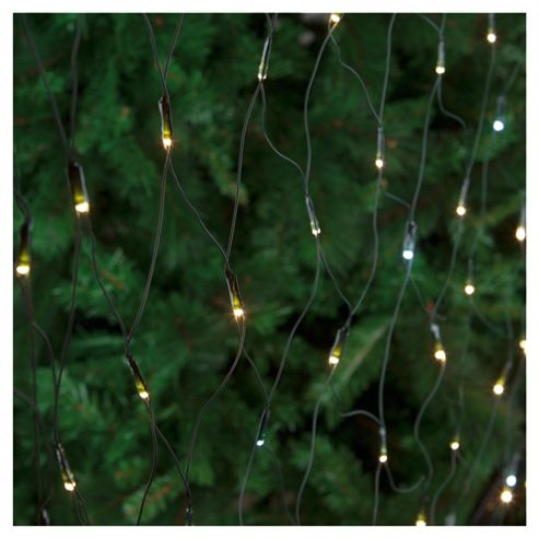 Festive 160 LED Twinkling Net Lights, White
