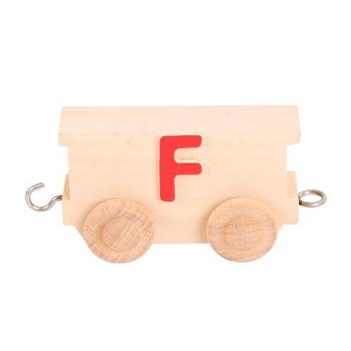 Bigjigs Toys BJ201F Name Train Letter F