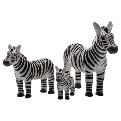 F&F Home Global Objet Set of 3 Zebras