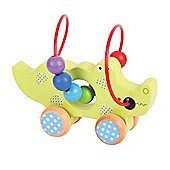 Bigjigs Toys BB070 Crocodile Push Along Bead Frame