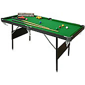 6ft Crucible 2-in-1 Foldup Snooker/Pool Table
