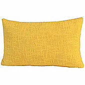 Homescapes Nirvana Cotton Yellow Scatter Cushion, 30 x 50 cm