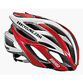 BBB BHE-01 - Falcon Team Helmet (Red & White, 52-55cm)