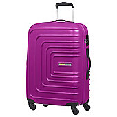 American Tourister Sunset Square 4-Wheel Hard Shell Pink Medium Suitcase