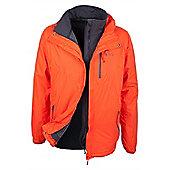 Bracken Extreme 3 in 1 Mens Waterproof Jacket - Orange