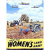 Join the Land Army Tin Sign