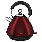 Morphy Richards 102029 Accents Pyramid Kettle, 1.5L - Red
