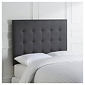 Manhattan Headboard Graphite Linen King