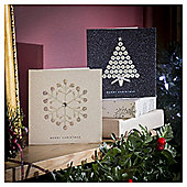 Snowflake and Gem Tree Luxury Christmas Cards, 10 pack