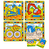 Bigjigs Toys BJ384 My First Construction Puzzles