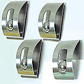 Memo Magnets / Note Holders - pack of 4 - Silver