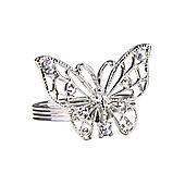 CIMC Home Butterfly 4 Piece Napkin Ring Set