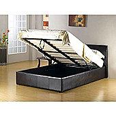 Arizona Leather Lift Up Storage Double 4ft 6 Bed Black