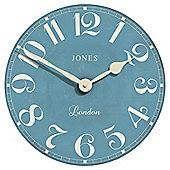 Jones & Co Torquay Wall Clock 40 x 40cm Blue