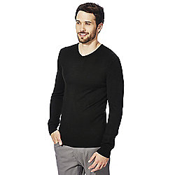 F&F Soft Touch V-Neck Jumper S Black