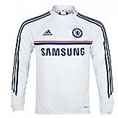 2013-14 Chelsea Adidas Training Top (White) - White