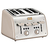 Tefal Maison 4 Slice Toaster Stainless Steel -Cream
