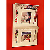 The Metal House Double Tier Magazine Rack - White