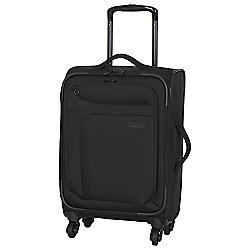 IT Luggage Megalite 4-Wheel Suitcase, Black Small