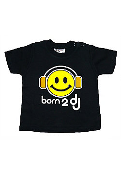 Dirty Fingers Born 2 DJ Baby T-shirt - Black