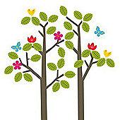 Wallies Nursery Decoration Wall Stickers - Tree & Birds