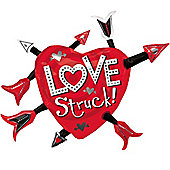 """Love Struck Valentines Balloon - 35"""" Foil Supershape (each)"""