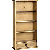 Andalusia - Bookcase / Cd / Dvd Storage Shelves With Drawer - Antique Pine